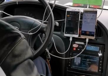 出租车司机设备配置的挺酷!